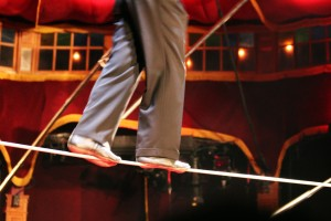 Digital Marketing Tightrope