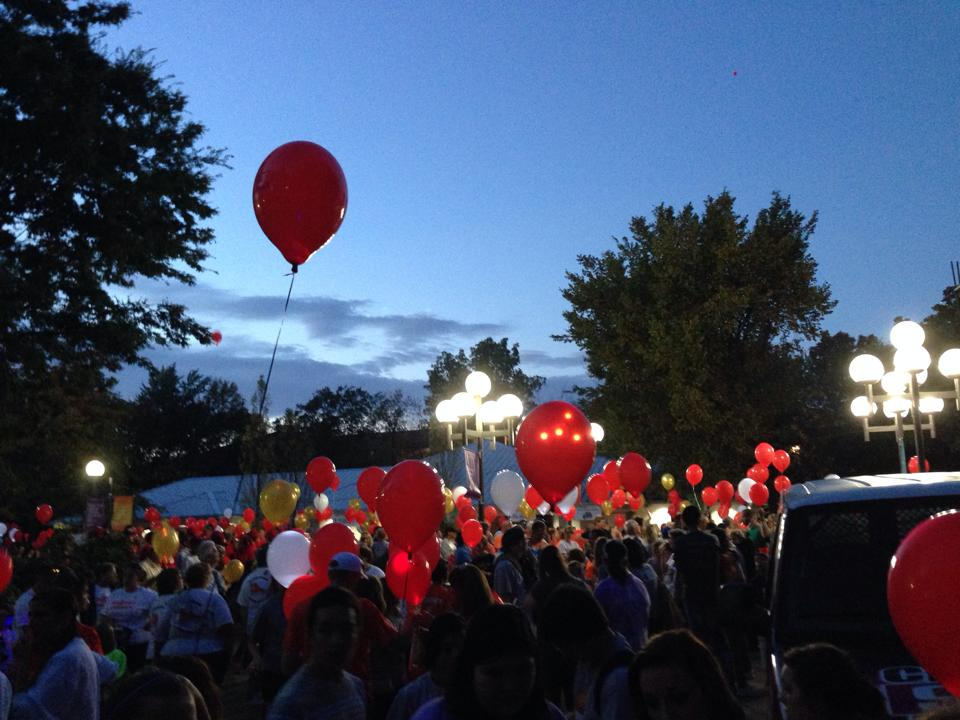 Light the Night Dayton walk for LLS
